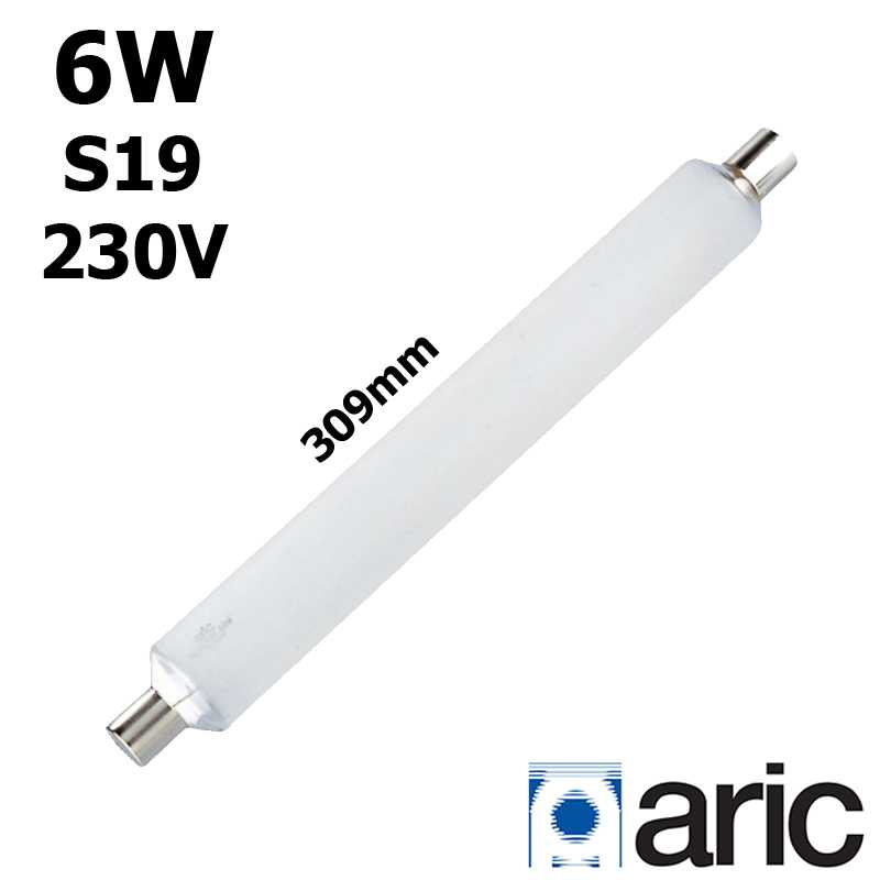Tube LED 6W ARIC double culot S19