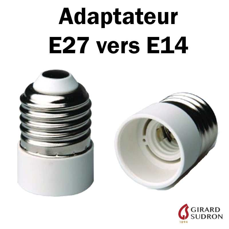 Adaptateur E27 vers E14