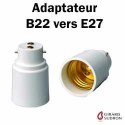 Adaptateur B22 vers E27