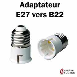 Adaptateur E27 vers B22