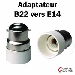 adaptateur B22 vers E14