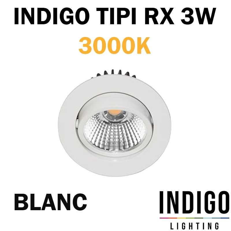 SPOT ENCASTRE INDIGO TIPI RX BLANC