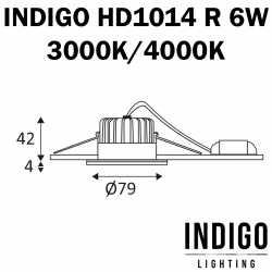 DIMENSIONS INDIGO SPOT HD1014 6W ALU