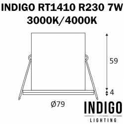 dimensions spot RT1410 R230 7W