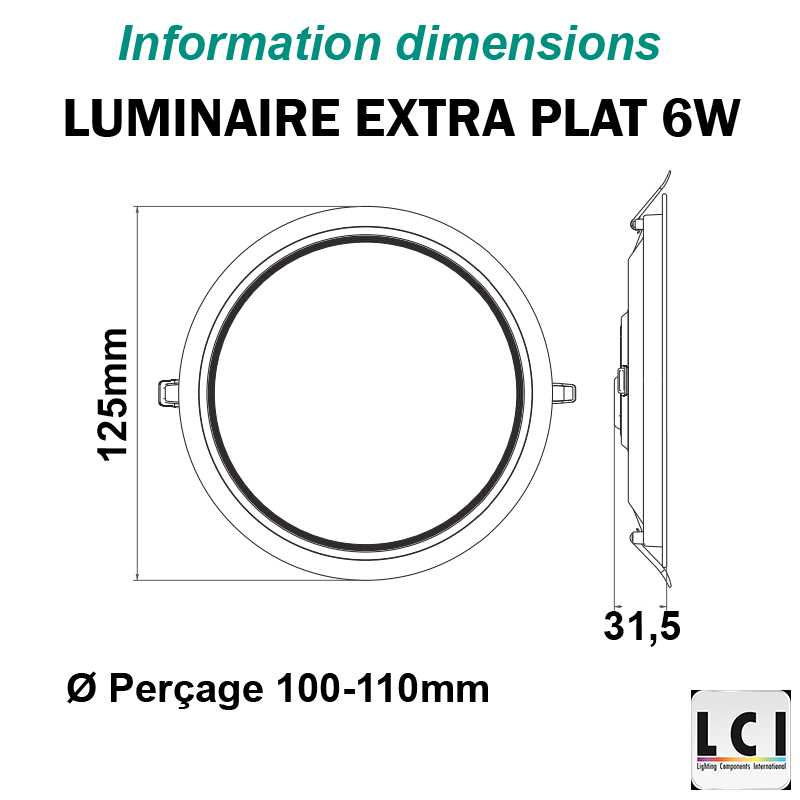 Downlight LED LCI 6W