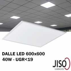 Dalle LED 40W JISO 600 600