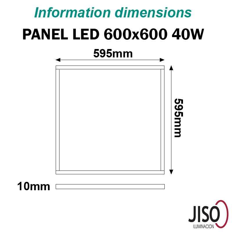 Panel LED 40W JISO 600 600
