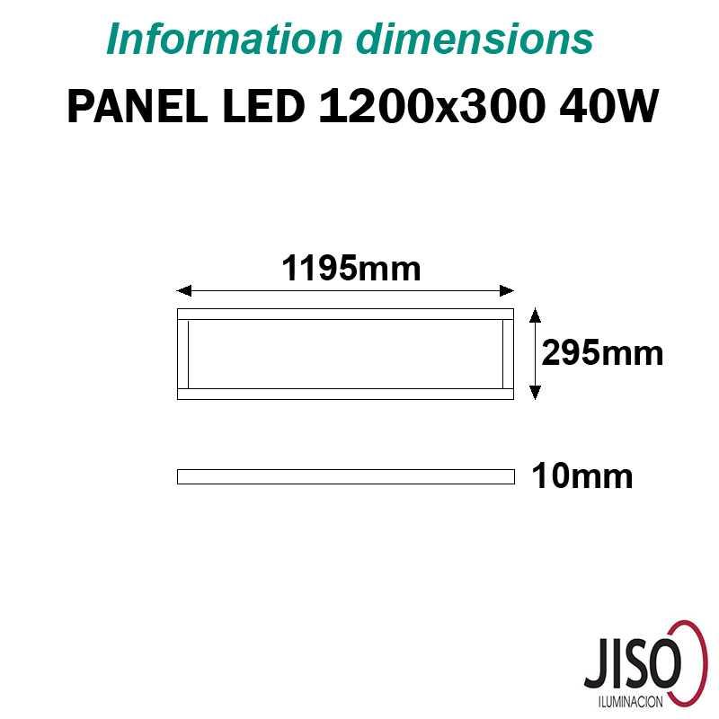 Panel LED 40W JISO 1200 300