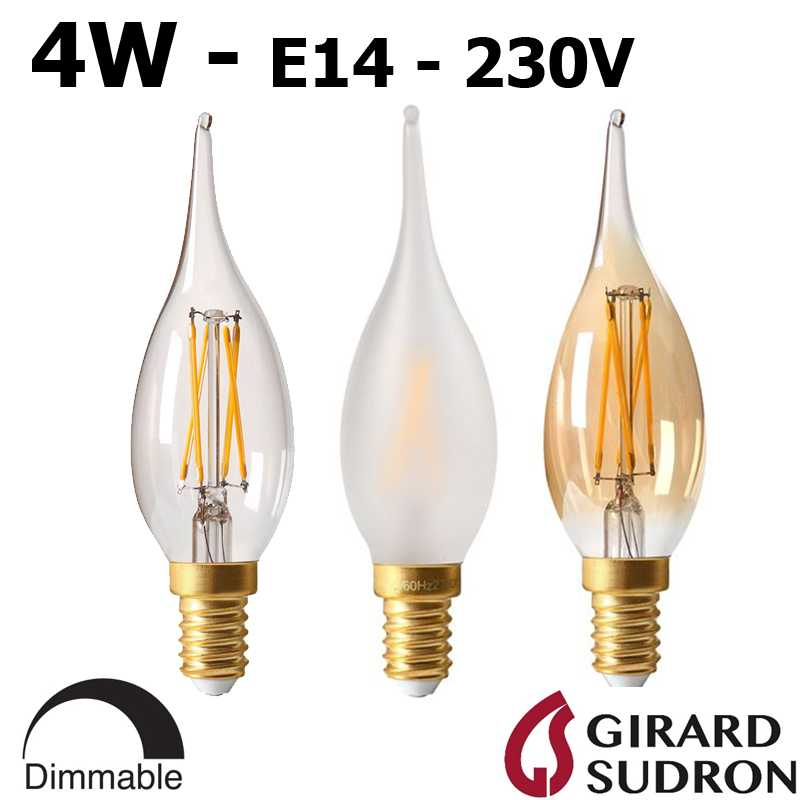 Ampoule flamme LED grand siècle 4W GIRARD SUDRON