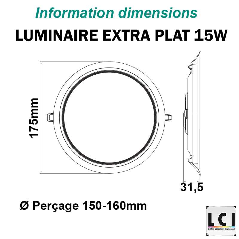 Downlight LED LCI 15W