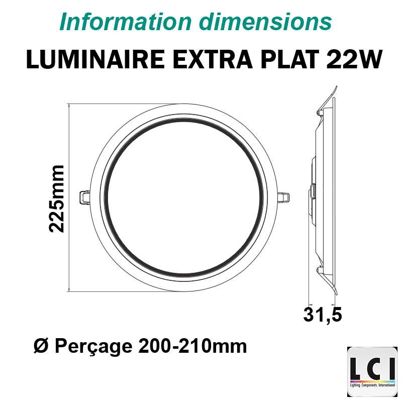 Downlight LED LCI 22W
