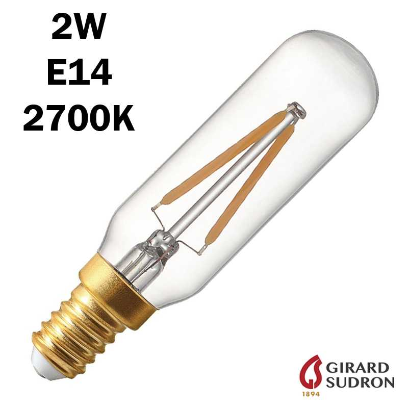 SUDRON Tubulaire Filament LED 2W 95mm