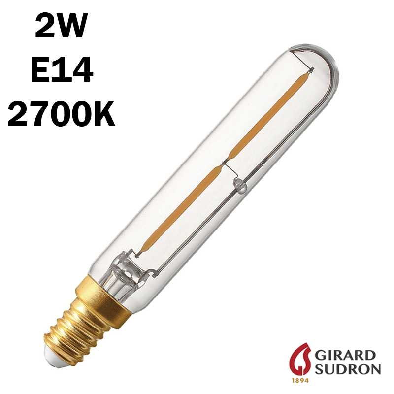 SUDRON Tubulaire Filament LED 2W 120mm