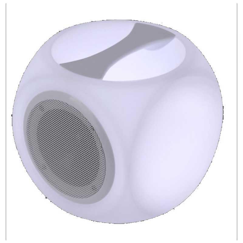 Cube LED haut parleur neuhaus