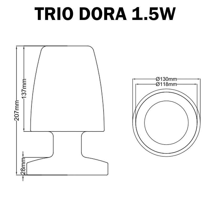 DIMENSION LAMPE EXTERIEUR PLASTIQUE