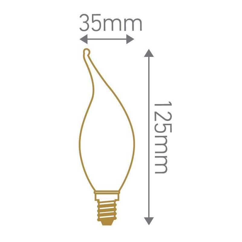 Lampe flamme LED coup de vent 2W GIRARD SUDRON
