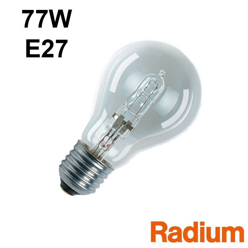 Ampoule eco-halogène 77W E27 230V RADIUM OSRAM