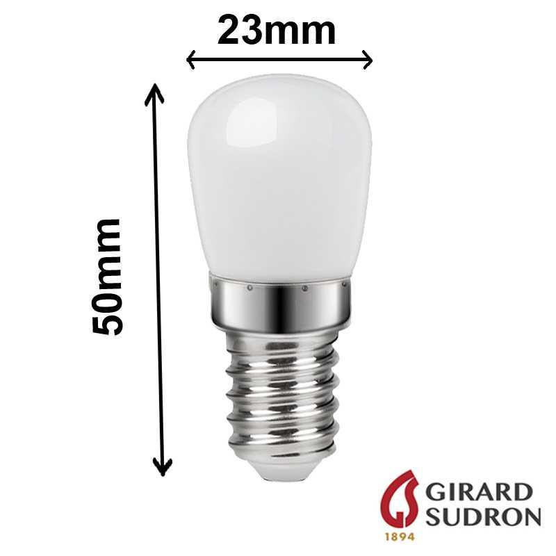 dimensions ampoule pour réfrigérateur poirette 1.5W E14