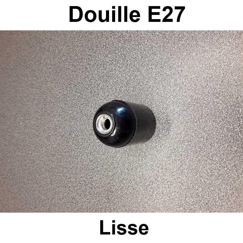 douille E27 lisse noir