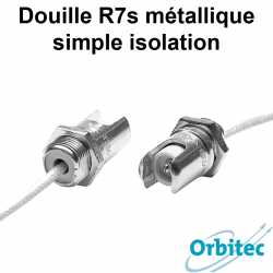 Douille R7s métallique simple isolation