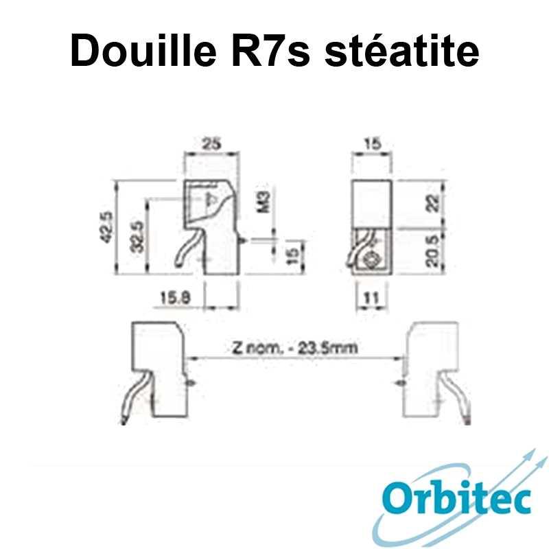 dimensions Douille R7s stéatite