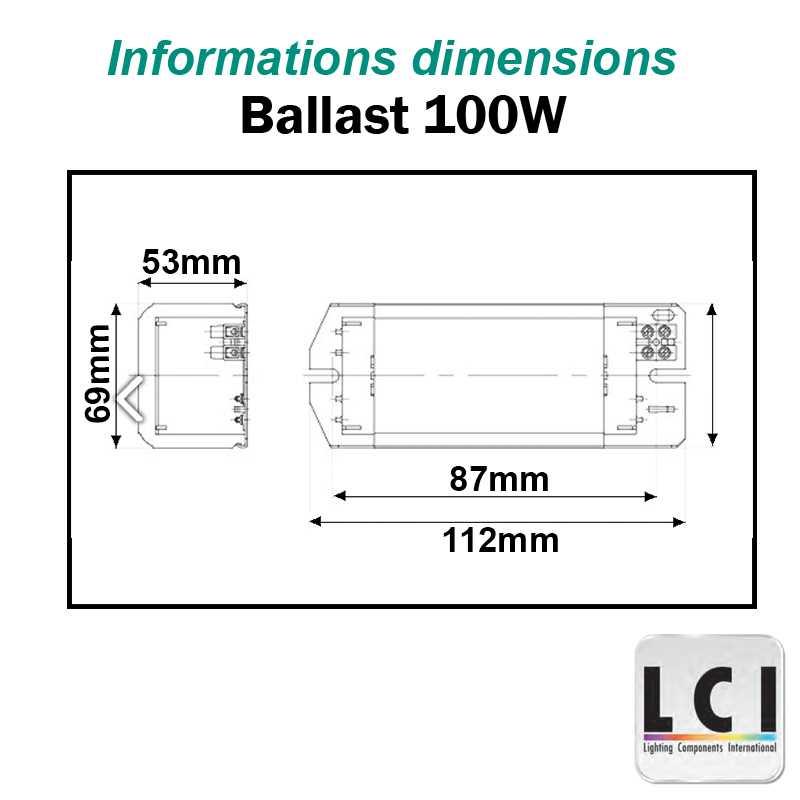Ballast 100W IODURE et SODIUM