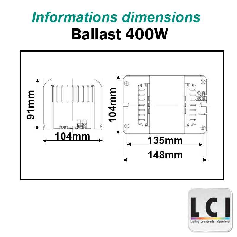 Ballast 400W IODURE et SODIUM