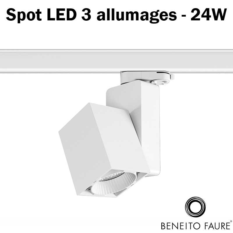 spot led beneito 24w 3 allumages