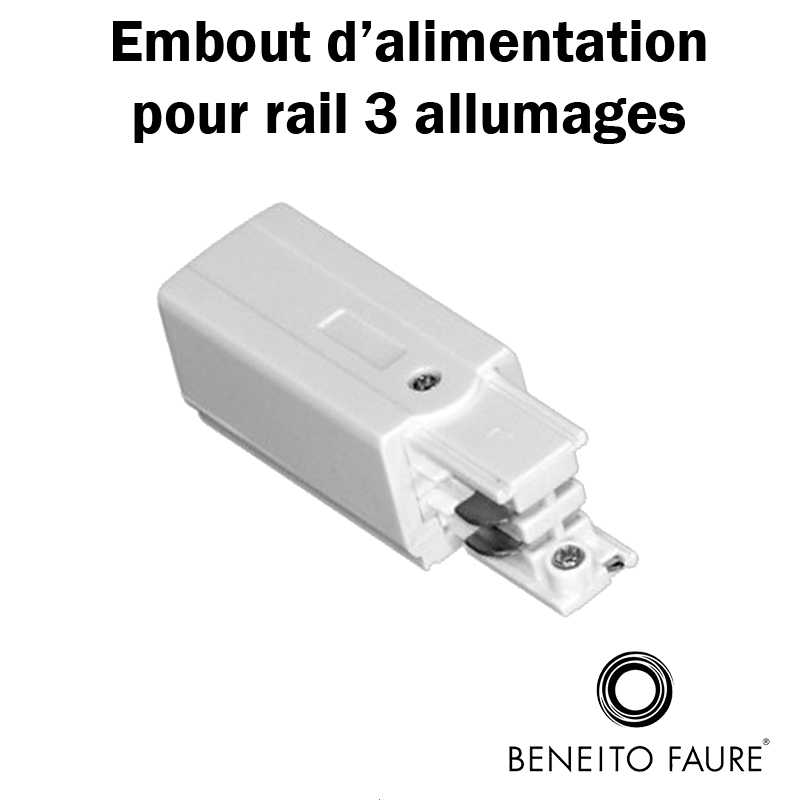 embout d'alimentation rail beneito