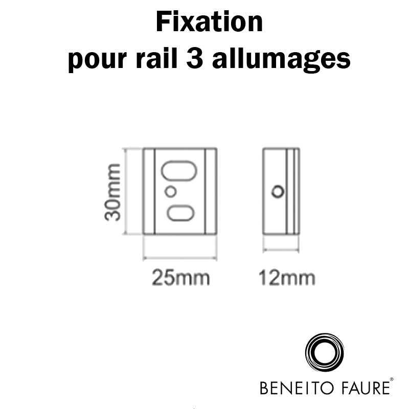 dimensions fixation rail 3 allumages