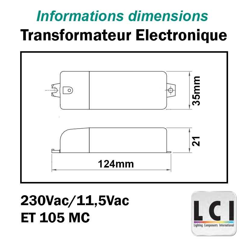 TRANSFORMATEUR 230V 12V 105VA