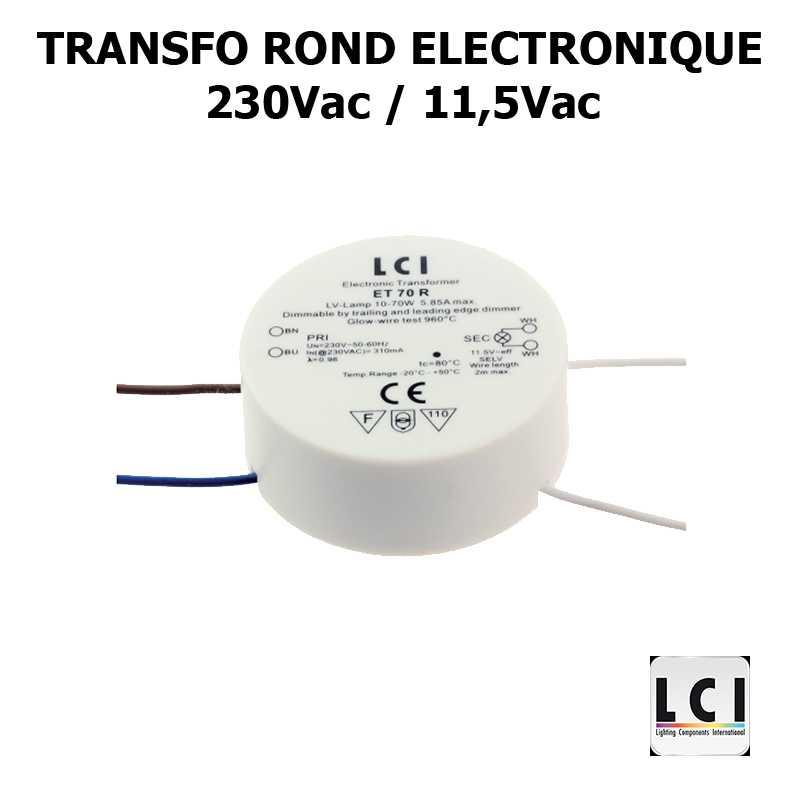 TRANSFO ROND 230V 12V 70VA - LCI 1111070