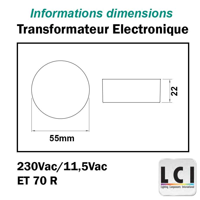 TRANSFORMATEUR ROND 230V 12V 105VA