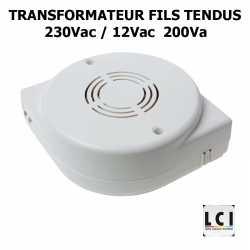 Transformateur fils tendus 230V 200VA