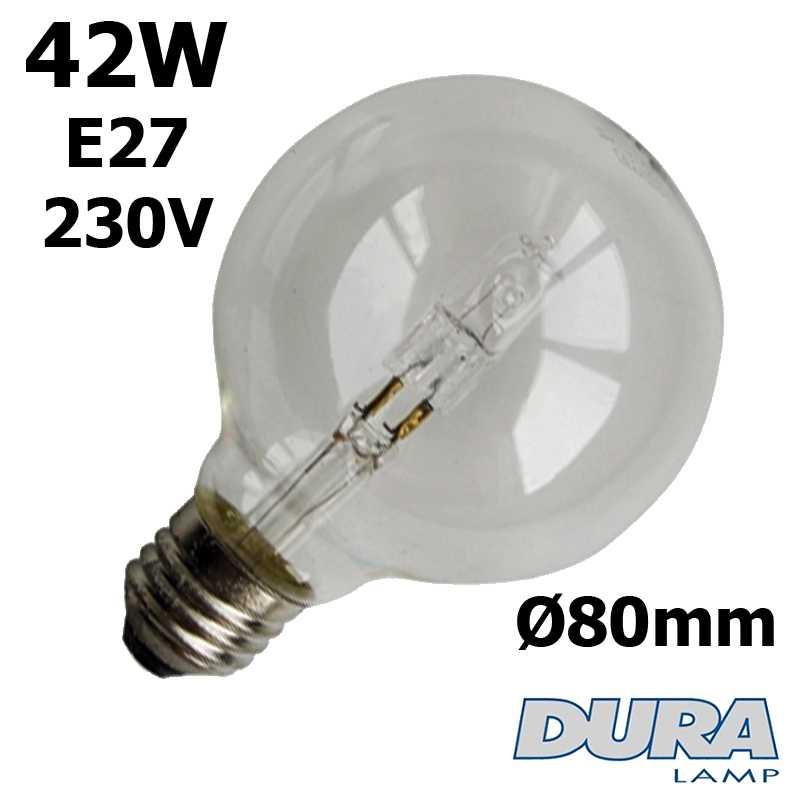 Ampoule éco-halogène 42W E27 230V Ø80mm