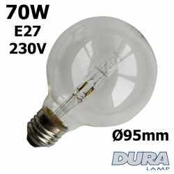 Ampoule éco-halogène 70W E27 230V Ø95mm