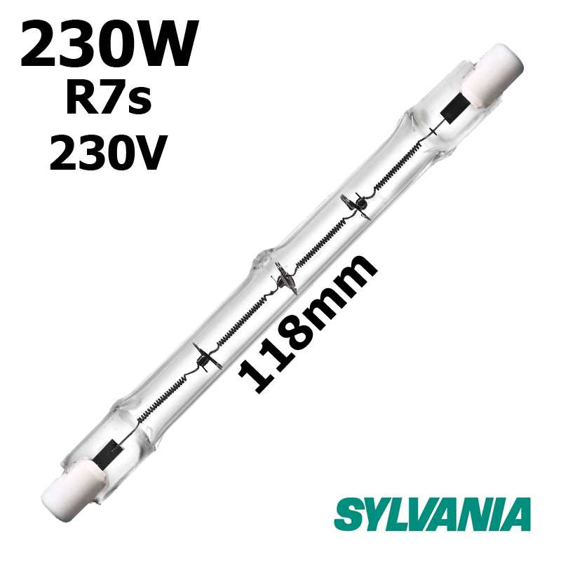 Tube 230W R7s 230V 118mm - lampe halogene