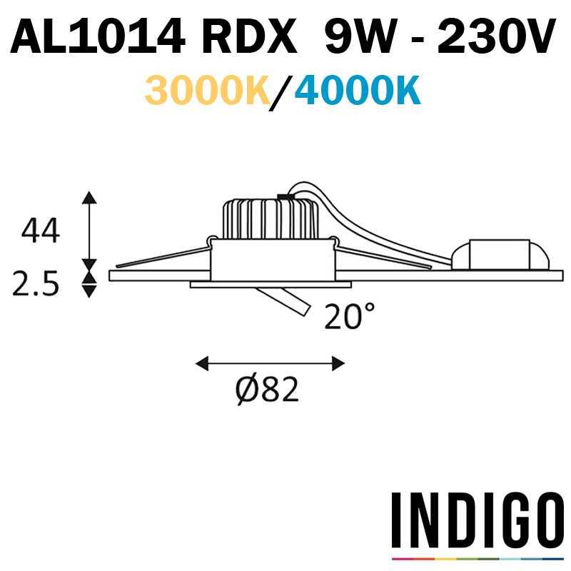 DIMENSIONS INDIGO AL1014 RDX