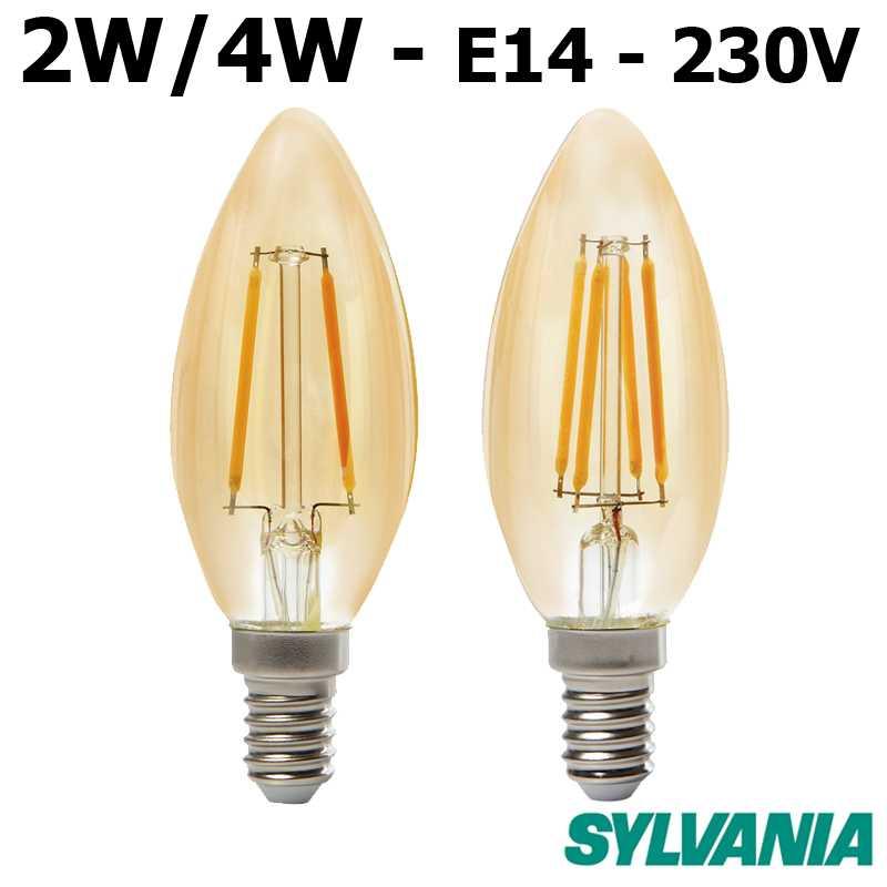 Flamme lisse ambrée LED SYLVANIA ToLEDo RETRO E14