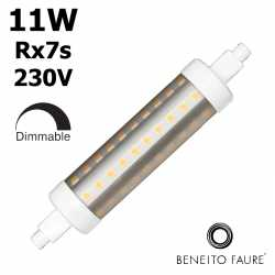 Tube LED R7s gradable 118mm