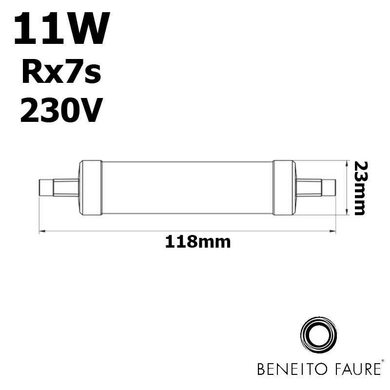 Tube LED R7s 118mm