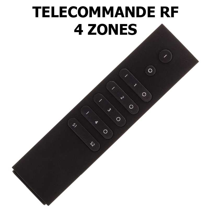 Télécommande radio fréquence 4 zones