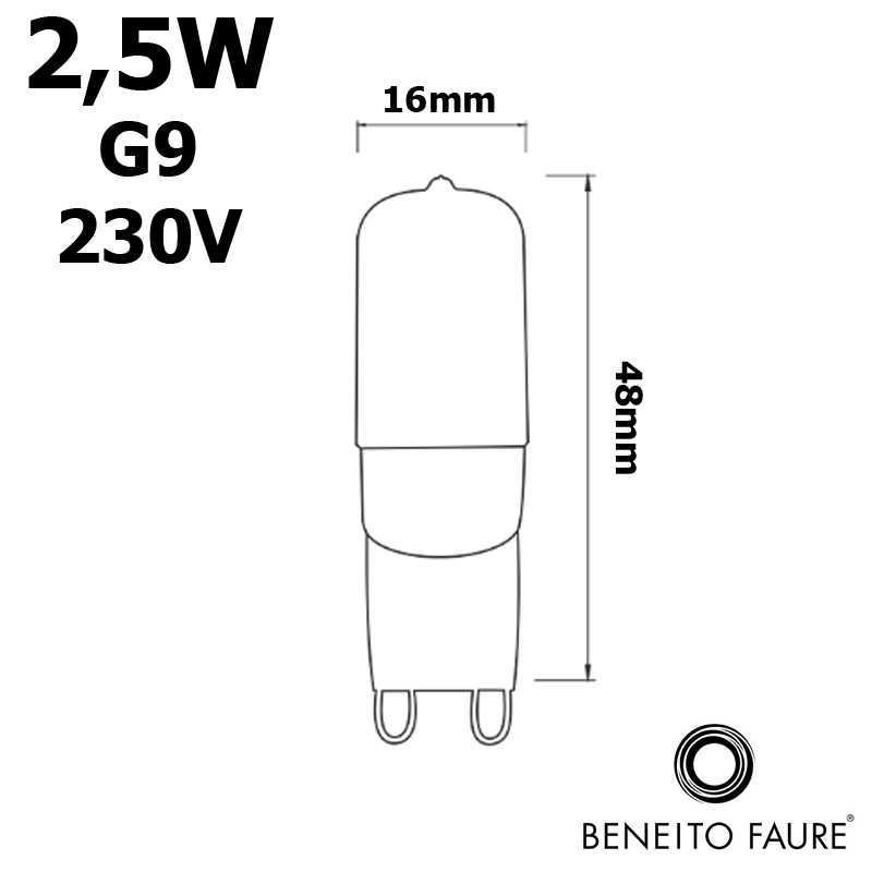 Ampoule LED G9 BENEITO et FAURE