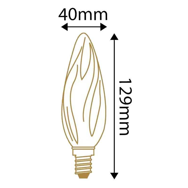 Lampe LED flamme Torsadée 5W GIRARD SUDRON