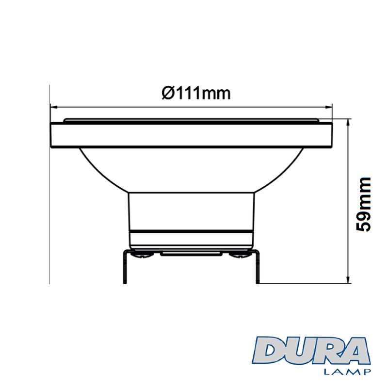 Ampoule LED DURALAMP DR111 G53