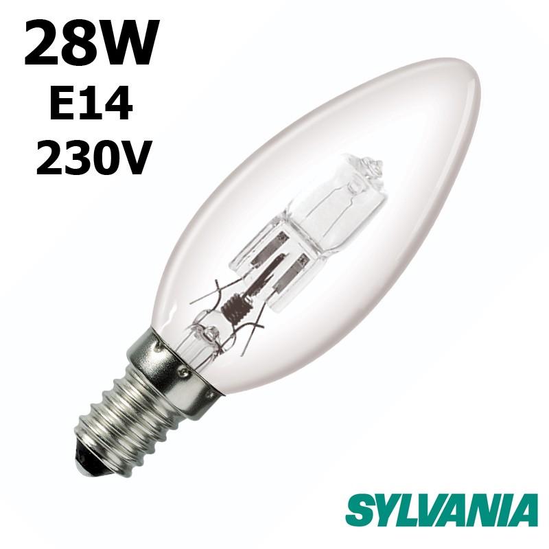 Ampoule flamme lisse 28W E14 230V