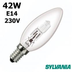 Ampoule flamme lisse 42W E14 230V