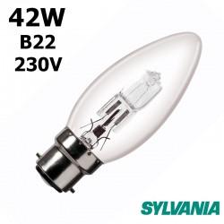 Ampoule flamme lisse 42W B22 230V
