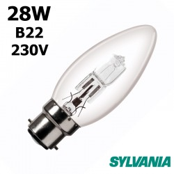 Ampoule flamme lisse 28W B22 230V