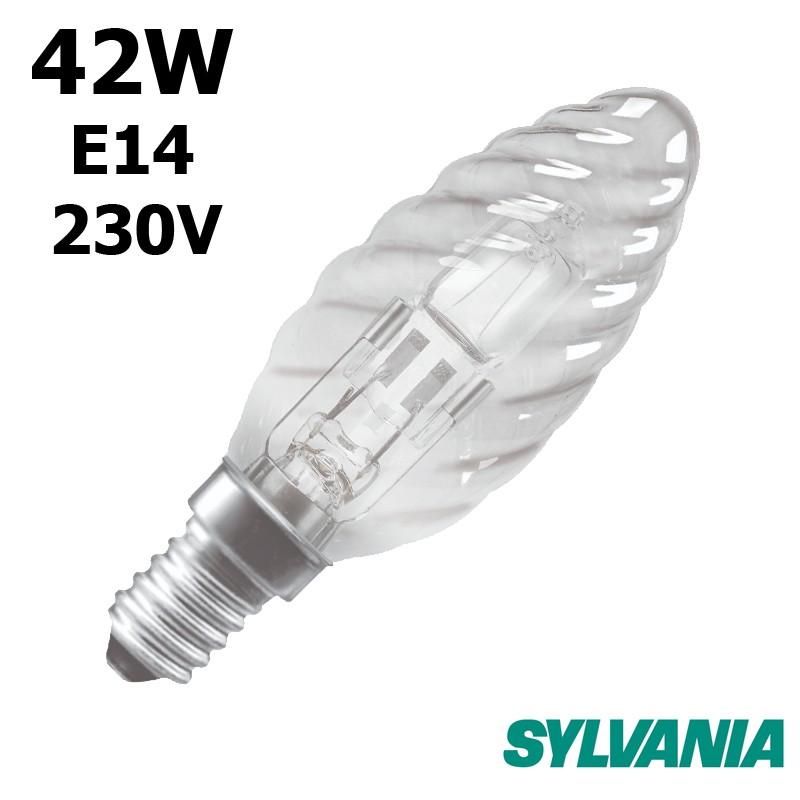 Ampoule flamme torsadée 42W E14 230V